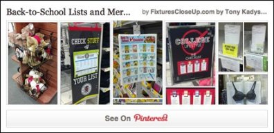Back-To-School Lists and Merchandising Pinterest Board