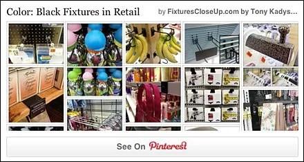 Black Color Fixtures in Retail Pinterest Board FixturesCloseUp