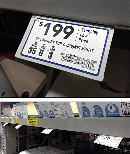 Shallow Angle Label for Pallet Rack