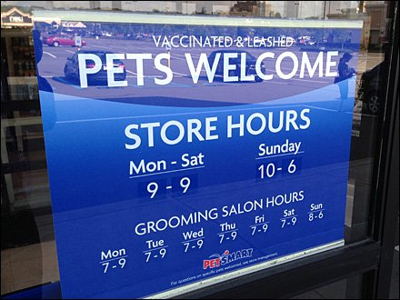 Pet Merchandising and Pet Store Fixtures - Healthy Well-Behaved Pets Welcome Aux