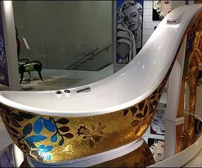High-Heel Bath Wear on Display