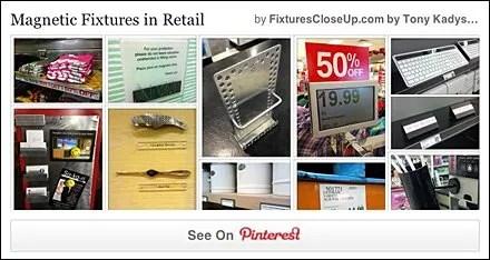 Magnetic Fixtures In Retail Pinterest Board for FixturesCloseUp