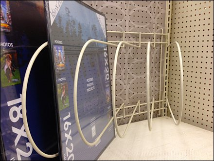 Pegboard Hosts Angled Dividers