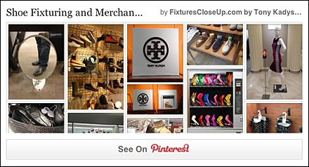 Shoe Merchandising Pinterest Board for Fixtures Close Up