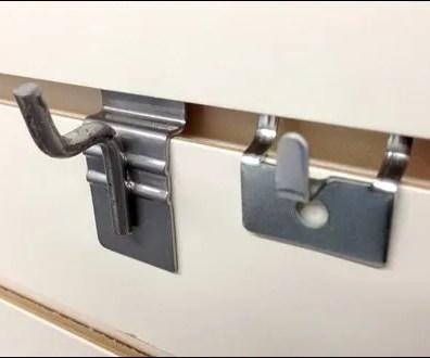 Slatwall Pin-Up vs Pegboard Pin-Up