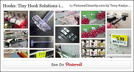 Tiny Hooks in Retail Pinterest Board for FixturesCloseUp
