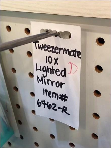 TweezerMan Handwritten Back Tags