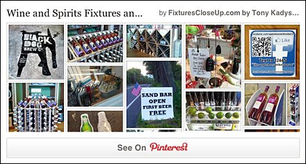 Wine and Spirits Fixtures Pinterest Board for FixturesCloseUp