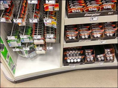 Curved Energizer Display Asymmetry in Point-of-Purchase