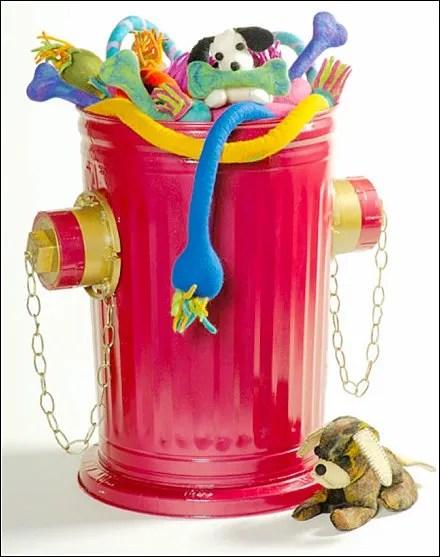 Fire Hydrant Bulk Bin Display - Fire Hydrant Bulk Bin Pet Toy Display