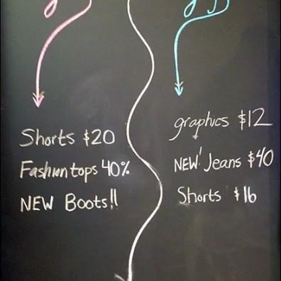Girls Guys Segregated Sales Chalkboard