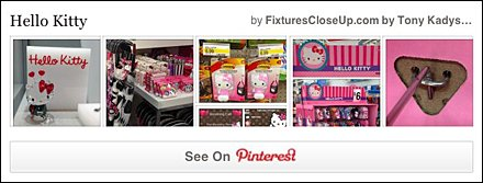 Hello Kitty FixturesCloseUp Pinterest Board