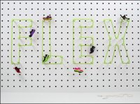 Oversize Pegboard Outlining In Twine