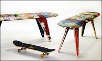 Recycled Skateboard Seating  Concept