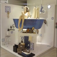 Space Saving Bath Display Aux