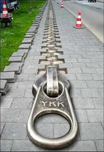 YKK Zips Up The Street - Zip Tie Fixtures / Cable Tie Fixtures