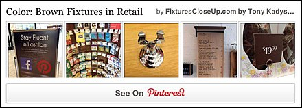 Brown Color Retail Fixtures Pinterest Board