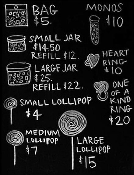 Chalkboard Candy Pricing