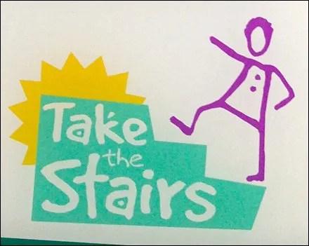 Elevator Advisory Take the Stairs Logo