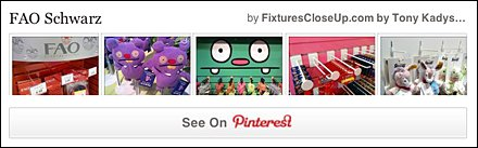 FAO Schwarz Fixtures Pinterest Board at FixturesCloseUp