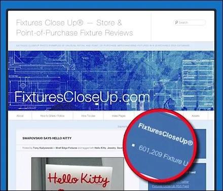 Fixtures Close Up® 600,000 Page Views Main