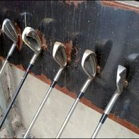 Golf Club Bike Rack 4