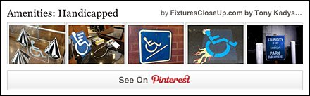 HandiCapped Amenities Pinterest Board for FixturesCloseUp