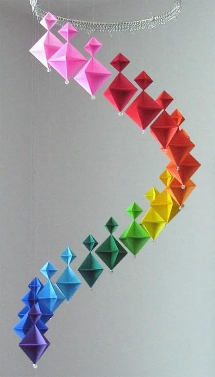 Origami Mobile Decorative Art