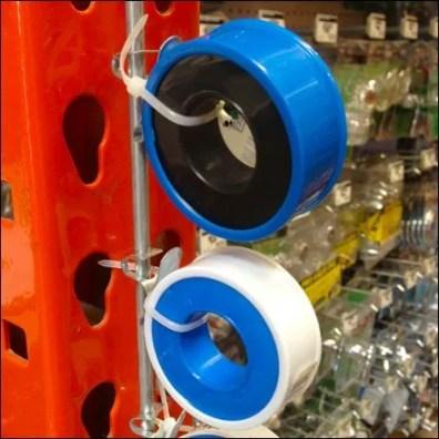 Pipe Thread Tape on Strip Merchandiser Detail