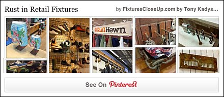 Rust as Retail Fixture Finish Pinterest Board