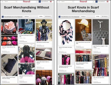 57 Scarf Merchandising Ideas on Fixtures Close Up