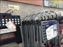 Merchandising Step Stools on Pegboard Hooks