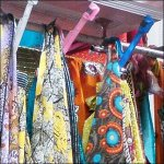 Colorful Sarees and Color Hooks