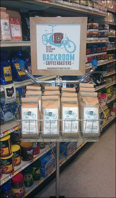 Fresh Coffee Delivered by Bicycle In-Store 2