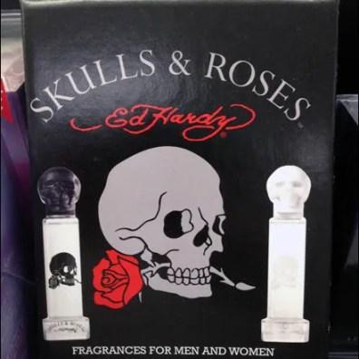 New Nuevo Nouveau Skulls & Roses Aux