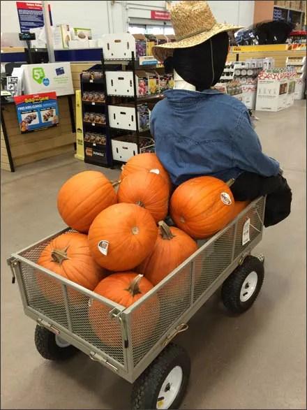 Seasonal Pumpkin Utility Cart Sales Main