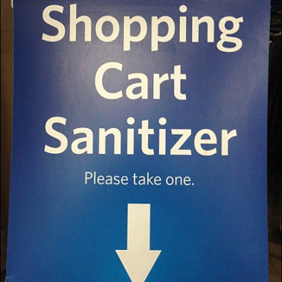 Shopping Cart Sanitizer CloseUp