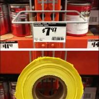 Spanish Caution Tapw Pallet Rack Merchandiser Detail