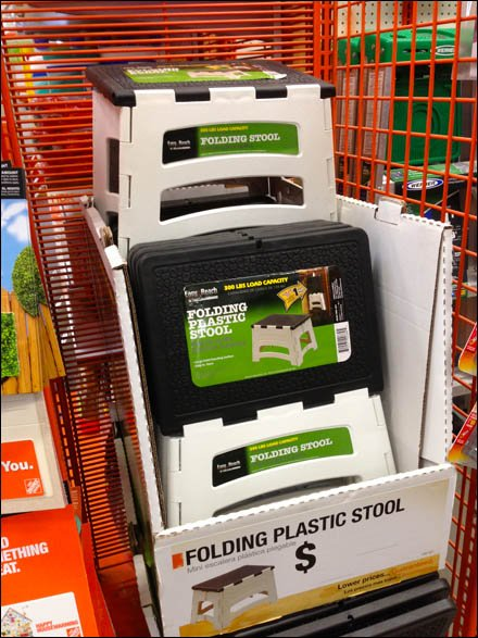 Step Stool Endcap Stacked Display