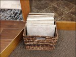 Wicker Basket for Floor Tile Aux