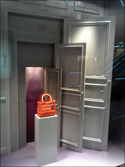 Dramatic Doorway to Dior Display