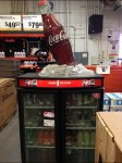 Giant Frosty Coca-Cola Bottle Aux