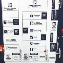 Hardware Wayfaring Navigation Map CloseUp