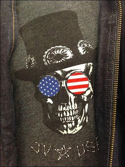 JV USA Top Hat Skull T-Shirt Main