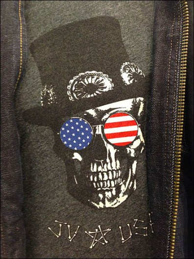 JV USA Top Hat Skull T-Shirt Main