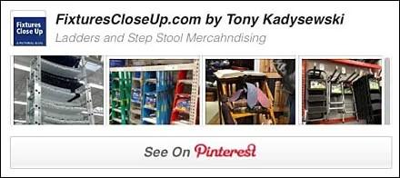 Ladder and Step Stoop Merchandising Pinterest Board