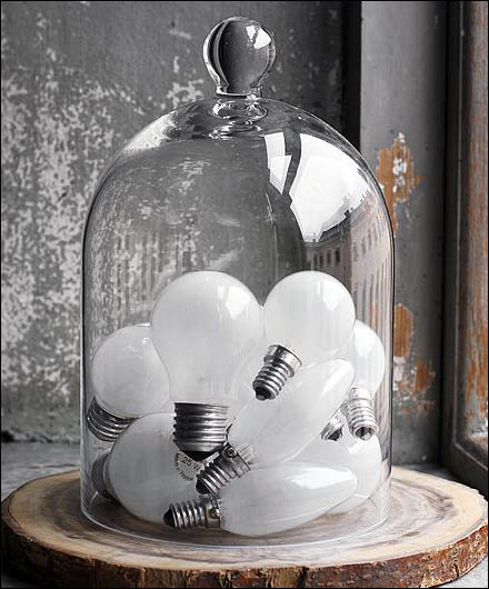Light Bulb Bell Jar CloseUp