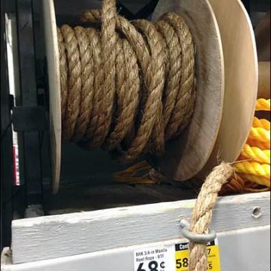 Shelf Edge Eye Lag For Rope Ends