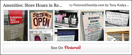 Store Hours In Retail Pinterest Board