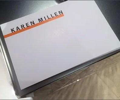 Karen Millen Postcard 1